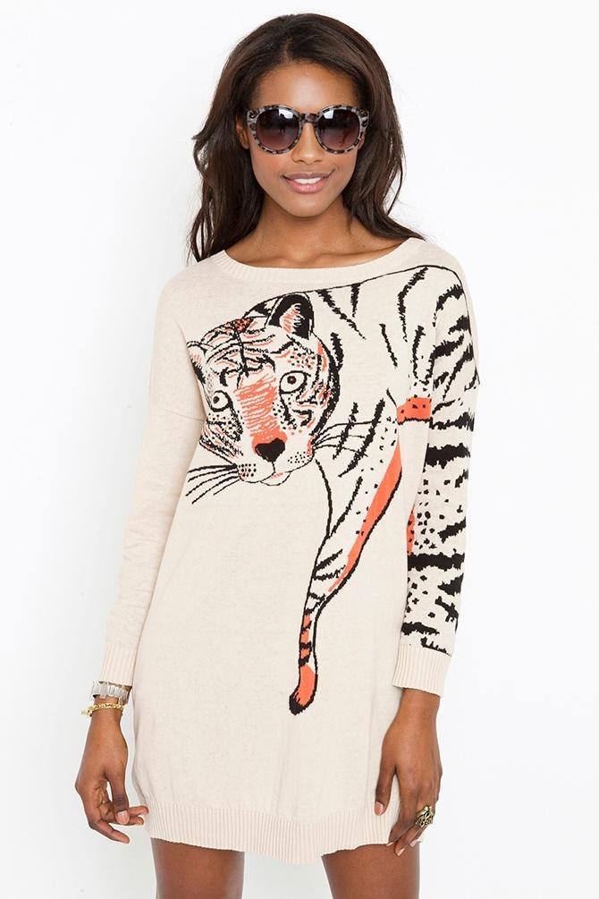 Call Of The Wild Knit Dress: Cat Dresses, Call, Party Dresses, Fashion, Knit Dress, Wild Knit, Clothes Dresses, Cat Knits