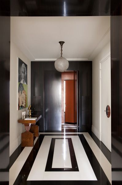 Black And White Flooring Detail