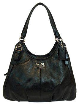 Coach Madison Maggie Leather Shoulder Bag $295