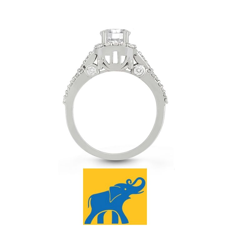 Veer Carriage Ring - If you look closely, you can see the carriage design in the profile. #IDo