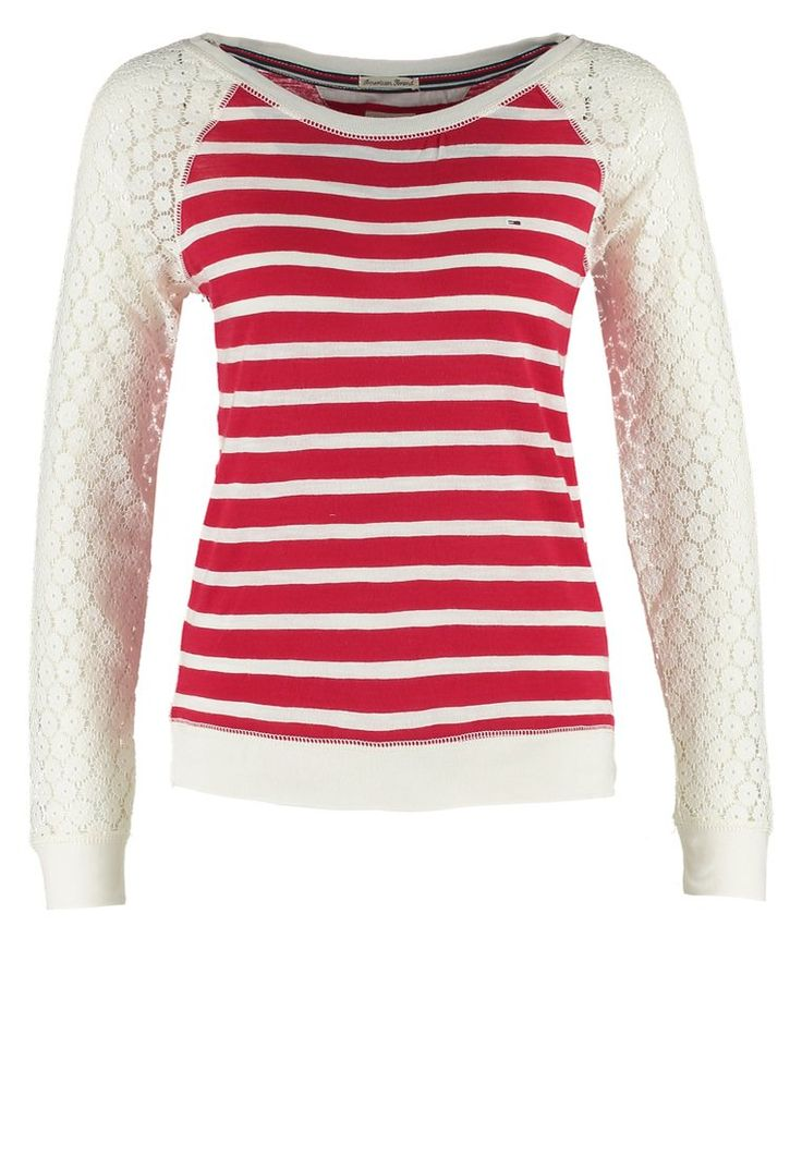 Hilfiger Denim VAL - Langærmede T-shirts - tango red/egret - Zalando.dk