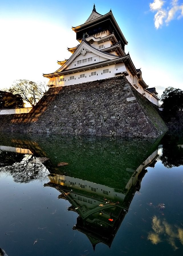 Kokura Castle in Kitakyushu, Japan was built by Hosokawa Tadaoki in 1602. It was the property of the Ogasawara clan between 1632 and 1860. The castle was burnt down in 1866 in the war between the Kokura and Chōshū clans. Wikipedia