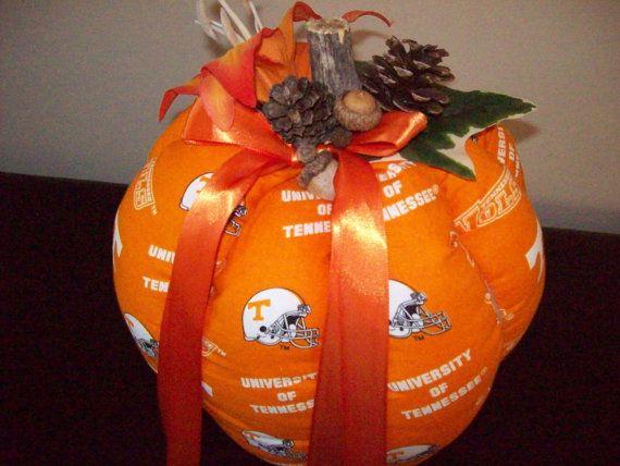 Large UT Pumpkin. GO VOLS Decorative Pumpkin, Fall decorations, home decor, orange pumpkins, stuffed pumpkin, fabric pumpkin,…