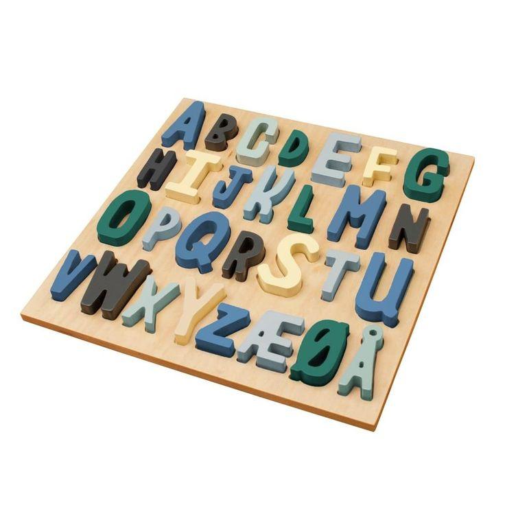 Sebra Steckpuzzle ABC aus Holz für Jungs online kaufen | KidsWoodLove