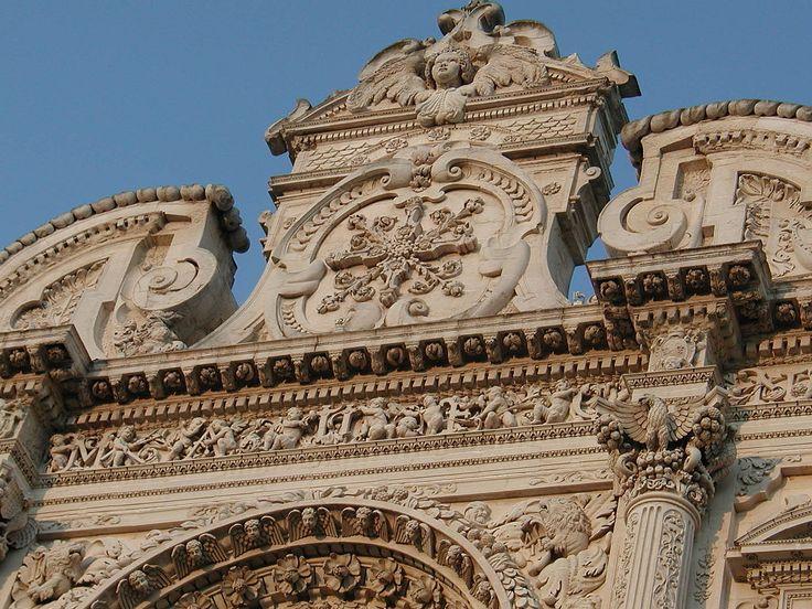 Lecce timpano barocco - Basilica di Santa Croce (Lecce) - Wikipedia