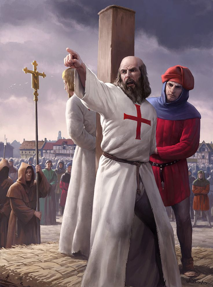 The Burning of Jacques de Molay by wraithdt on DeviantArt. de Molay was the last Grandmaster of the Templars.