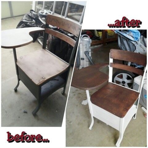 Refresh of an old school desk that was buried in the garage
