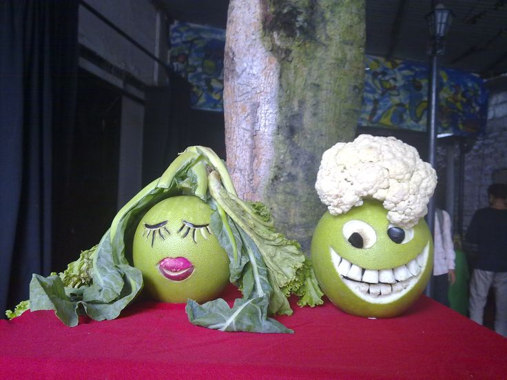 Best funny fruit vegetable carvings images on