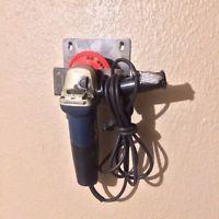 "4 1/2"" Angle grinder L wall holder Storage Rack for 1 DeWalt Milwaukee Makita"