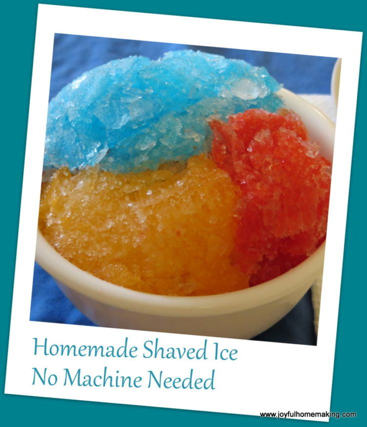 Syrup recipes for shaved ice
