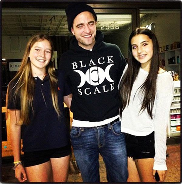 Robert Pattinson Cuddles Up To Kyle Richards' Daughter In New Pic