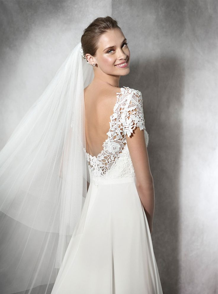 TANAY-PRONOVIAS-LACE-SATIN-A-LINE-WEDDING-DRESS-LUV-BRIDAL