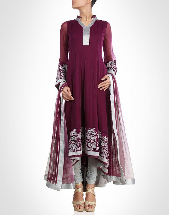Wine toned suit is the epitome of modern elegance.Shop Now: www.kimaya.in