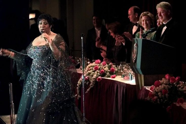 Image result for aretha franklin clinton