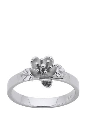 Karen Walker Jewellery for Women | Single Flower Ring in Silver | Incu $89