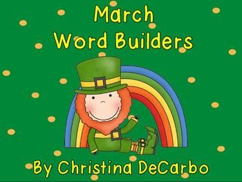 """Included in this freebie pack are 5 word building printables with a St. Patrick's Day theme! Students cut out the letters to create words. They must also find the """"secret"""" word which uses all of the letters provided. The adorable picture on each page gives students a hint about the """"secret"""" word! :) The pack also includes vocabulary cards for students to use as a reference to uncover the secret word.I often use word builders as part of my word work stations."""