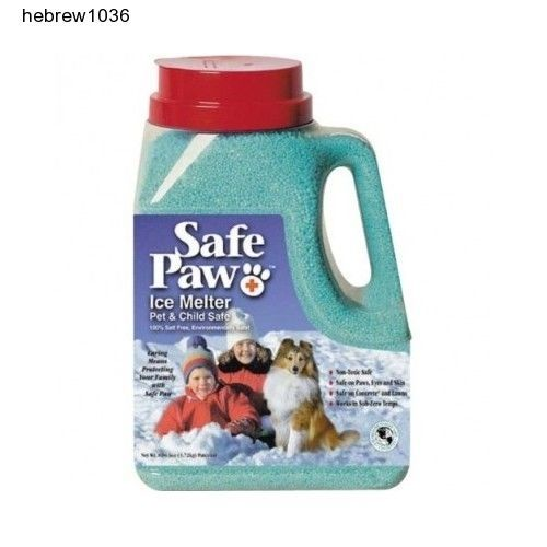 Safe Paw Non-Toxic Ice Melter Pet Safe 2-8 lbs Two Pails Snow Ice Melt Sidewalk