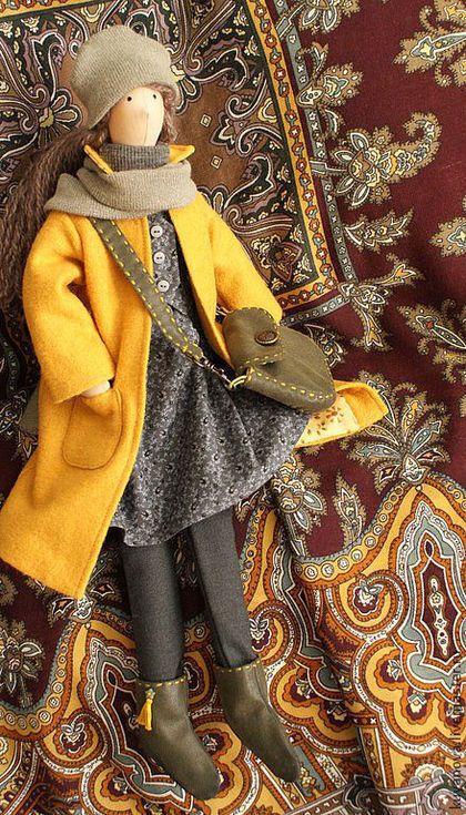 Куклы Тильды ручной работы. Тёплая осень. Ирина Шляпкина. Ярмарка Мастеров. Интерьерная кукла, осенняя прогулка, американский хлопок