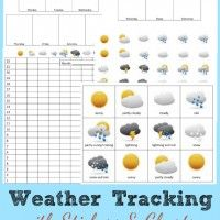 Preschool Activities – Weather Tracking FREE Printable Charts with Stickers from HappyandBlessedHome.com Preschool Activity