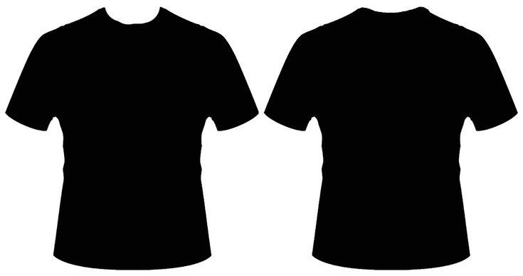 Desain Kaos Polos Depan Belakang Warna Hitam  exam
