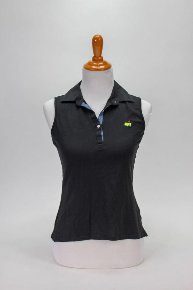 597f7185ed Bobby Jones Masters Women's Golf Shirt Small Black Sleeveless PGA Italy  #BobbyJones #ActivewearBaseLayer #HowToPlayGolf? | How To Play Golf?