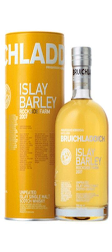 10% OFF for 6 or more bottles – automatically deducted at CHECKOUT    Country of Origin: Scotland  Islay Barley 2007 is the ultimate expression of provenance: single Islay farm, single field and single vintage.  The grain for this iconic whisky was grown for Bruichladdich in the Minister's field at Rockside Farm by Mark and Rohaise French.  Unpeated and matured in American Oak entirely on Islay.  No added colouring and non-chill filtered.