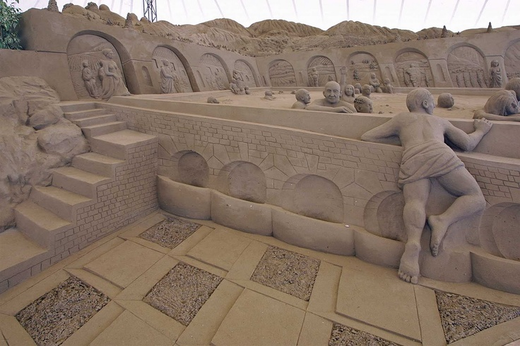 reggaepsyc: sculture di sabbia