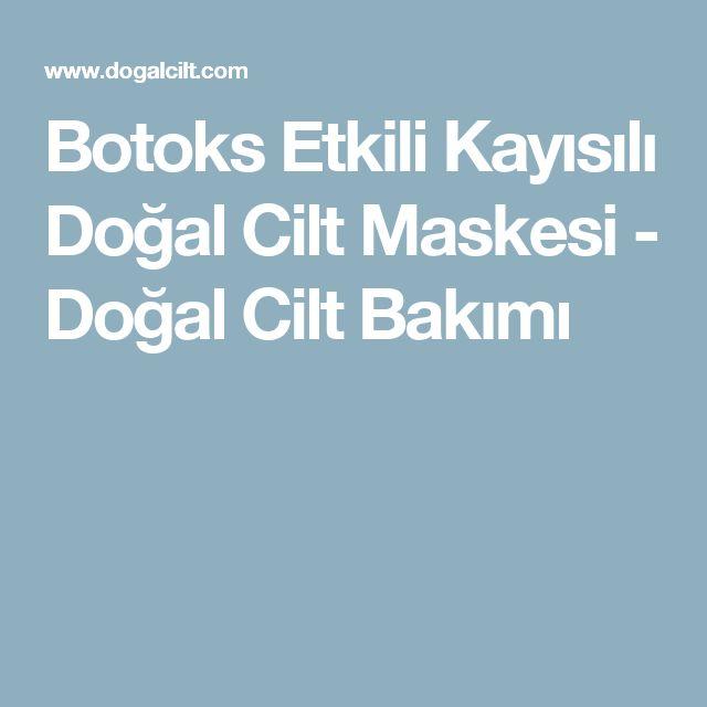 Botoks Etkili Kayısılı Doğal Cilt Maskesi - Doğal Cilt Bakımı