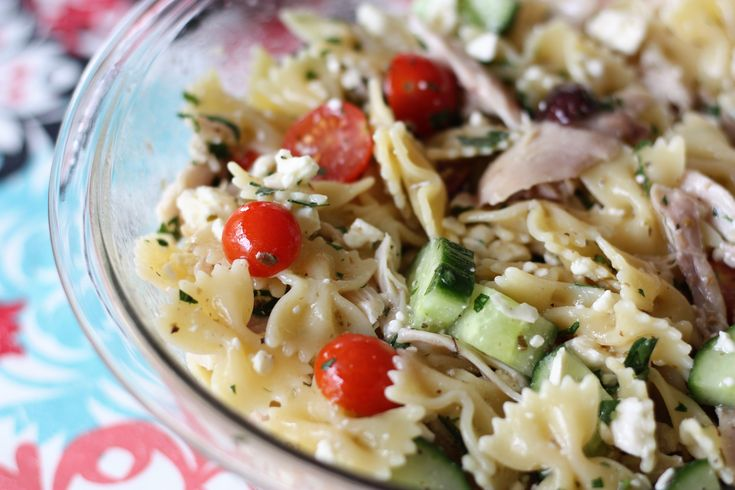 Easy Greek Chicken Pasta Salad  - Powered by @ultimaterecipe