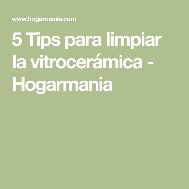 5 Tips para limpiar la vitrocerámica - Hogarmania