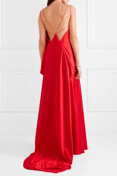 Michael Lo Sordo - Spider open-back silk-satin gown