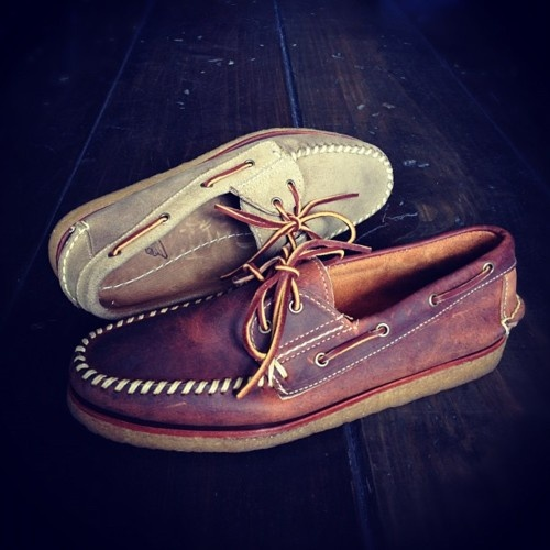 Ronnie Fieg for Sebago Crepe Sole Boat Shoes