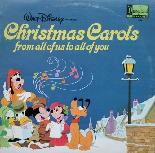 walt disney christmas carols vinyl lp c.1973