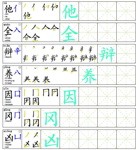 35 best images about chinese characters worksheets for kids on pinterest good luck chinese. Black Bedroom Furniture Sets. Home Design Ideas