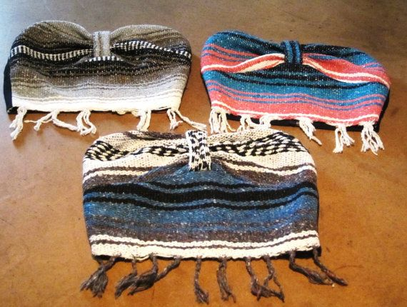 baja bustiers... The Navajo blankets from yoga! Ok.. this are rad.. @Sarah Chintomby Parkins couldn't you see bean wearing something like this?