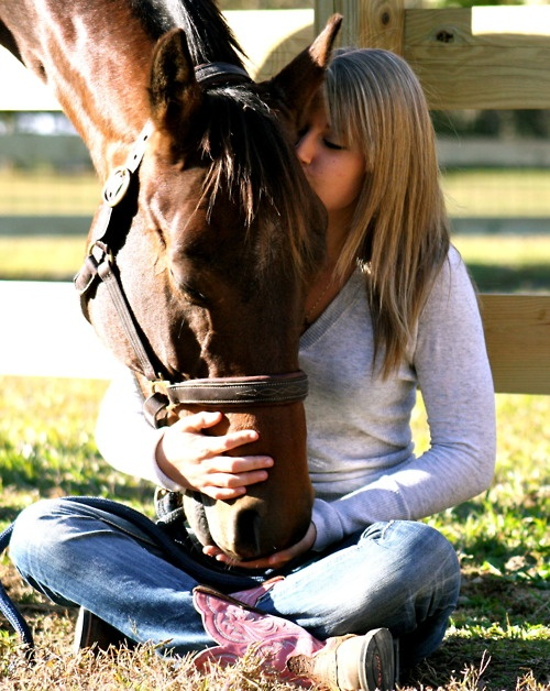 I believe that girls and women establish a true emotional connection to their horses early on!