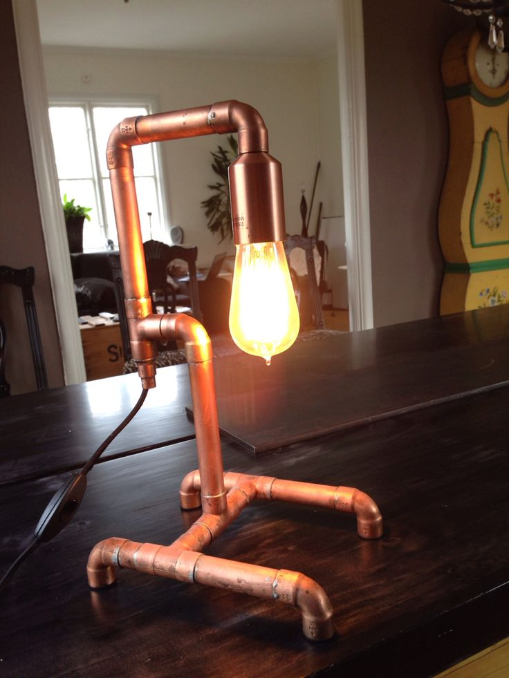 Just another copper pipe lamp with Edison bulb.