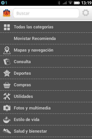 FirefoxOS Marketplace, listado de categorías de aplicaciones #firefoxOSshot
