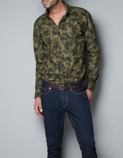 PRINTED COMBAT SHIRT - Shirts - Man - ZARA United States