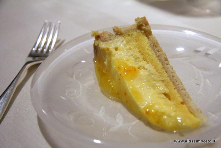 Cheesecake al frutto della passione e arancia - Enoteca Pinchiorri - Firenze