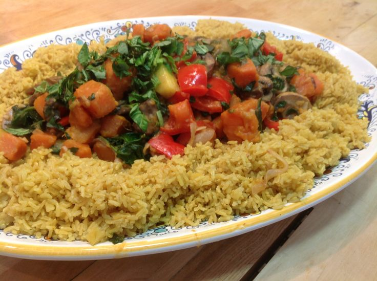 Brown Moon Curry with Curried Rice