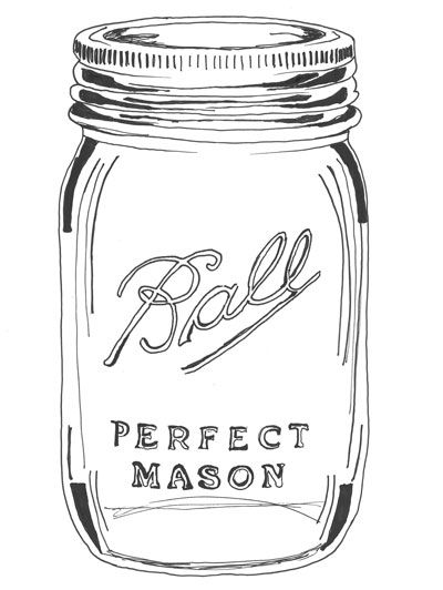 Giant Mason jars for summer sipping are available at In The Kitchen (Strip District). | EA, June/July 2013 | Illustration: Allie Wist. #masonjars #decorate #summerdrinks