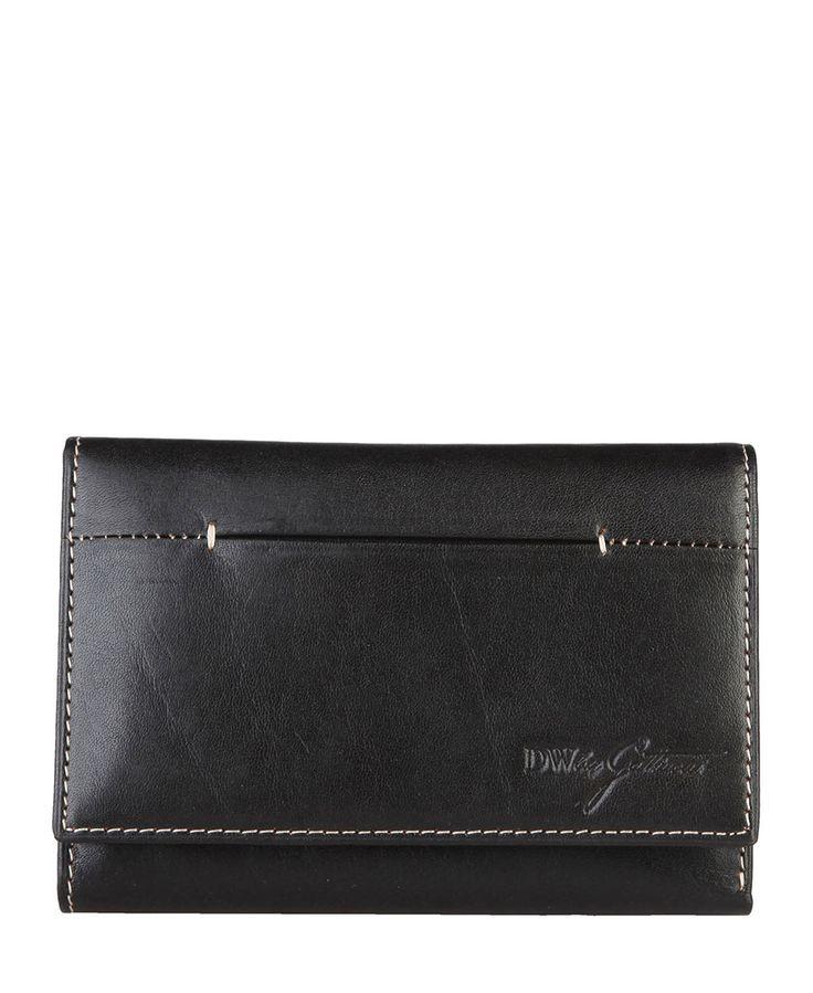 Gattinoni  - collezione donna - portafoglio in pelle con logo. - portacarte di credito e portadocumenti - scomparto per  - Portafoglio donna Nero