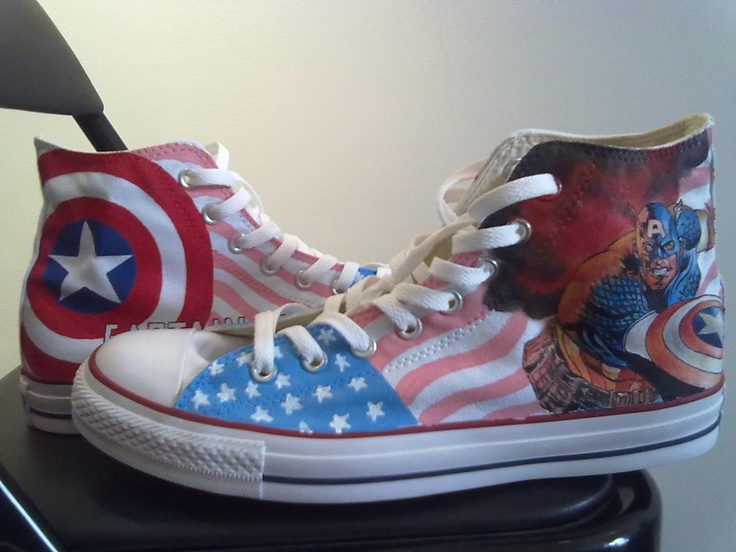 Captain America custom shoes