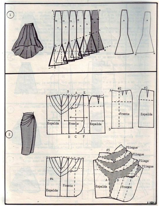 Pattern skirt vintage