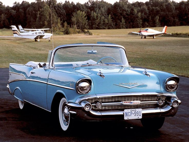1957 Chevrolet Bel Air.!  My parents used to have one just like this ... only it was a hard top!  Loved it!  :)