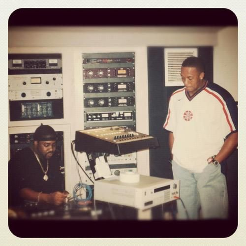 lord finesse and dr dre in the studio