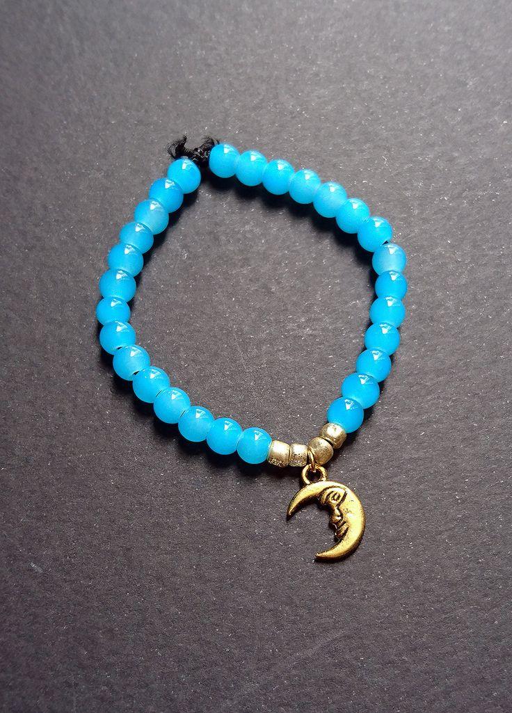 """Bracelet """"Perles lunaires"""" bleu : Bracelet par maddy-crea"""