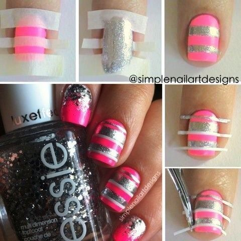 Nail Art Idea: The Crosshatched Manicure   Beauty High. You could use a sharpie maybe?...