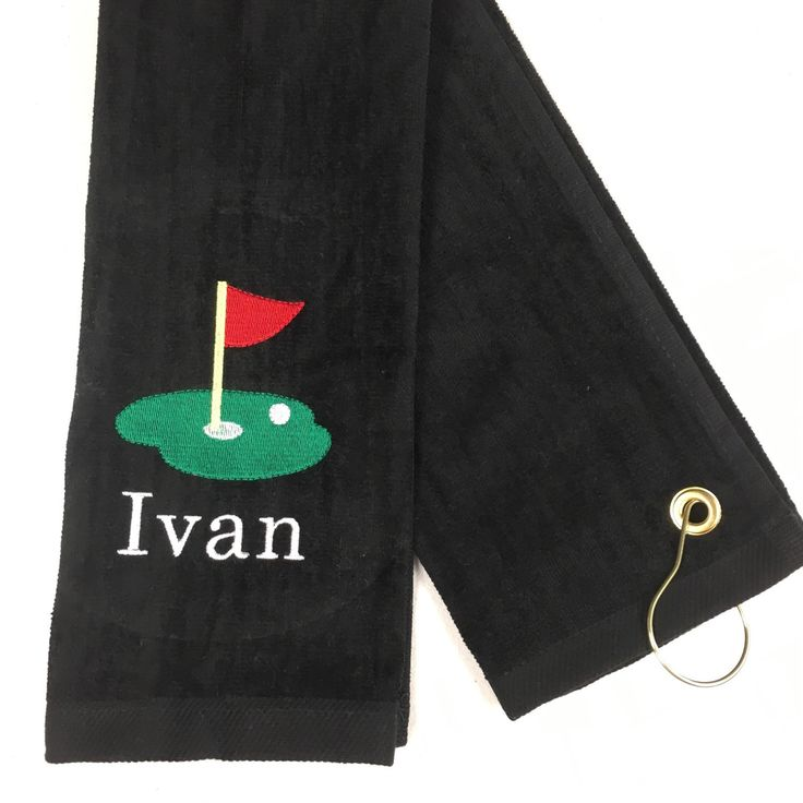 Great selling golf towel!  This is the 16 x 26 size.  www.personalizedembroidery4u.com